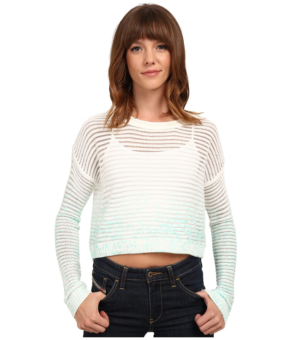 Olive & Oak - Splatter Crop Sweater (Aqua Pool Combo) Women