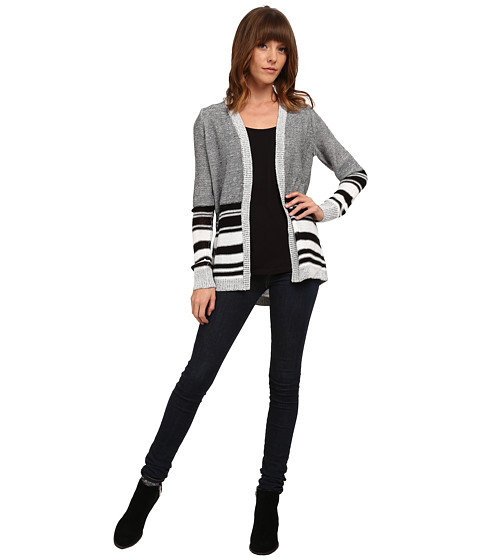 Olive & Oak - Stripe Cardi (Black Combo) Women's Sweater