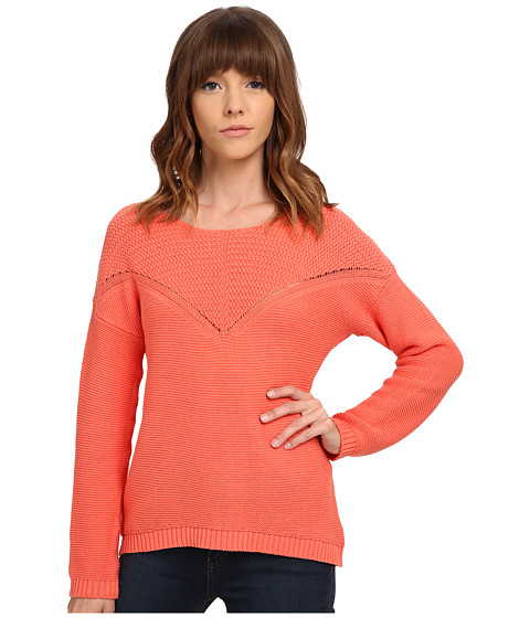 Olive & Oak - V Stitch Sweater (Knockout Orange) Women