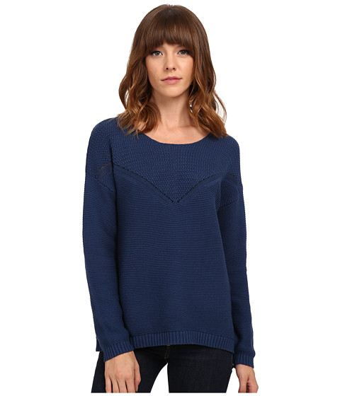 Olive & Oak - V Stitch Sweater (Navy Sea) Women's Sweater