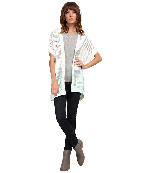 Olive & Oak - Ombre Dolman Cardi (Aqua Pool Combo) Women's Sweater