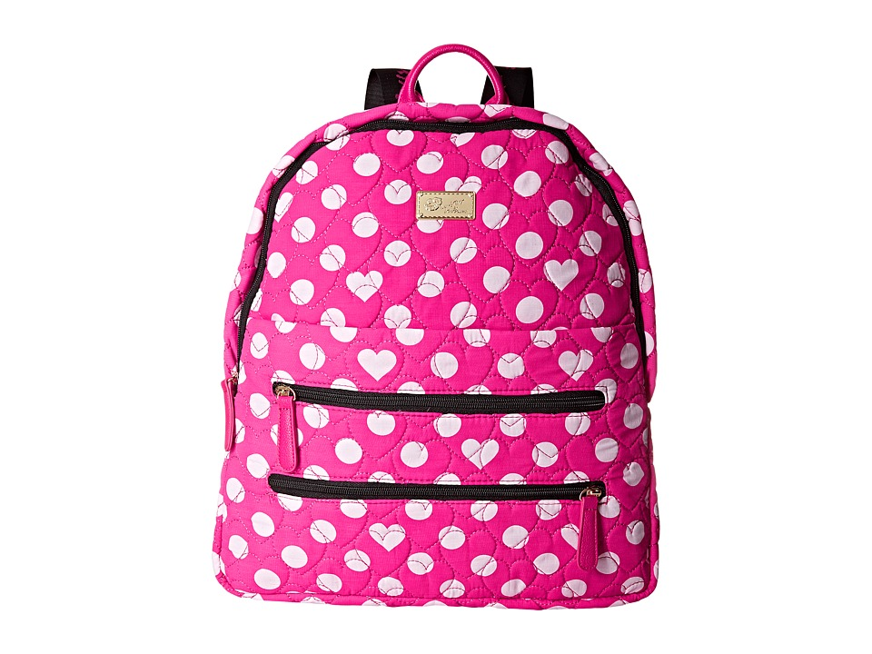 Luv Betsey - Bexx Quilted Cotton Backpack (Pink Dot) Backpack Bags