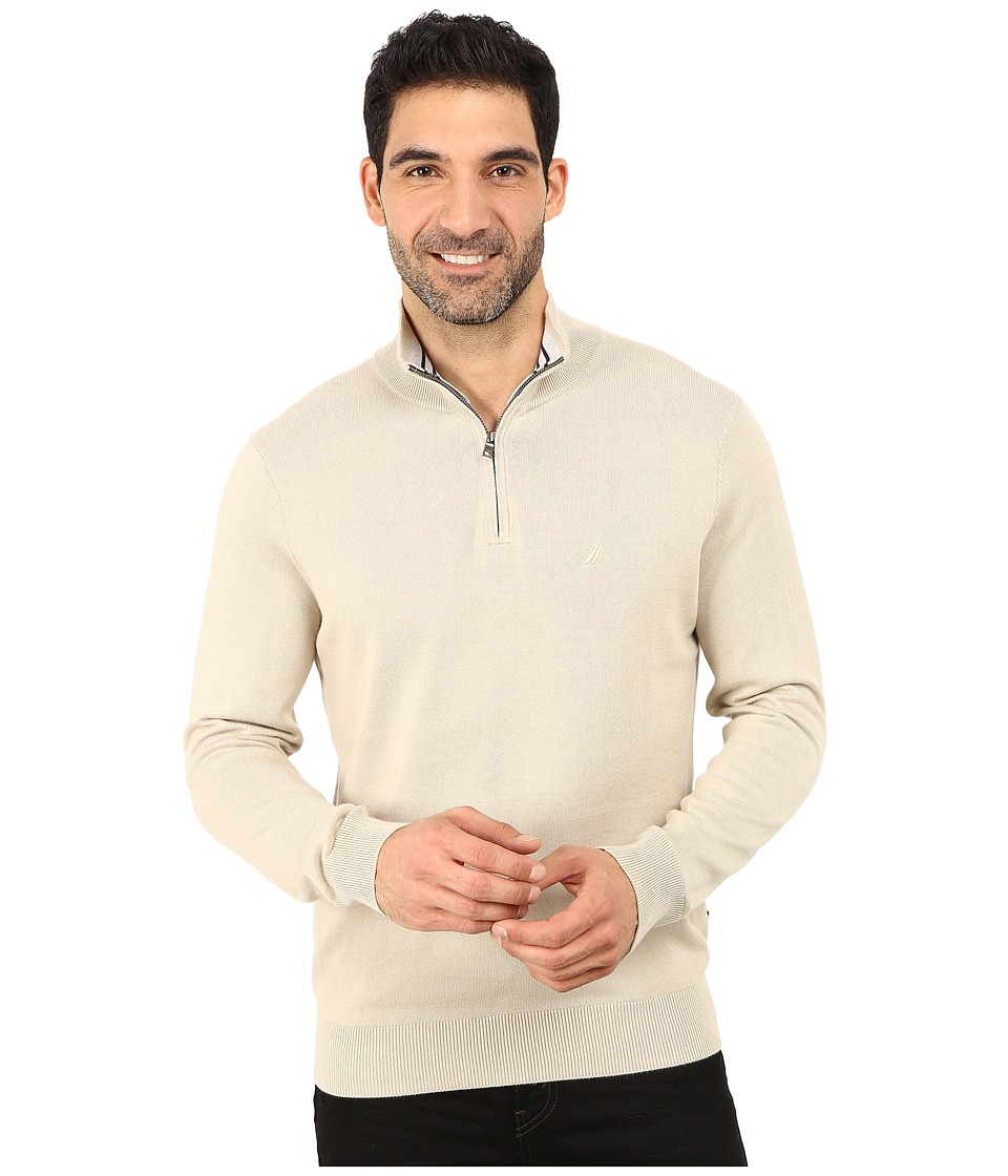 Nautica - 1/4 Zip Sweater (Linen Breeze) Men's Sweater