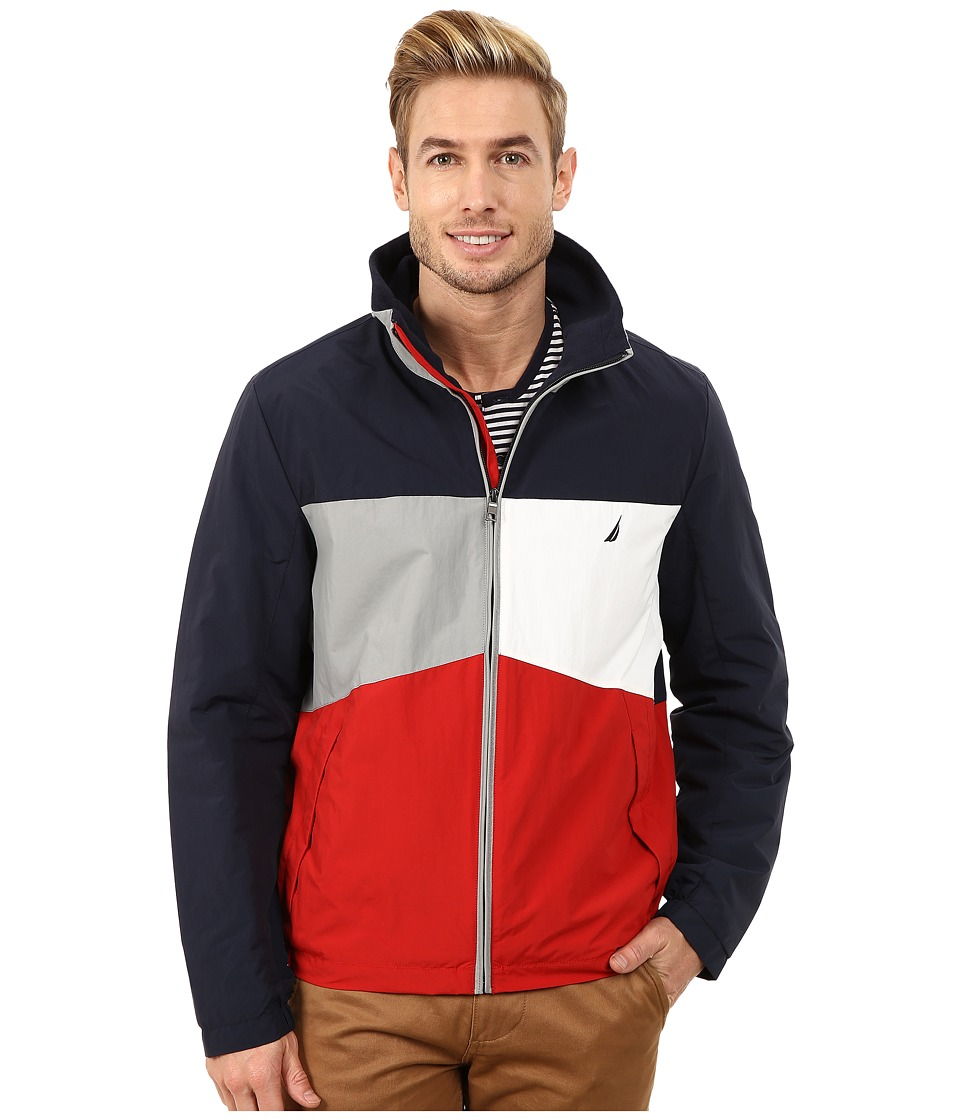 Nautica - Mariner Color Block Bomber (Navy) Men's Coat