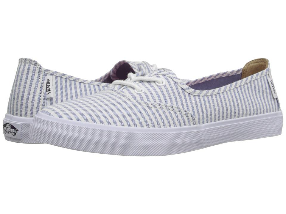 Vans - Solana SF ((Stripe) Faded Denim) Women's Slip on Shoes
