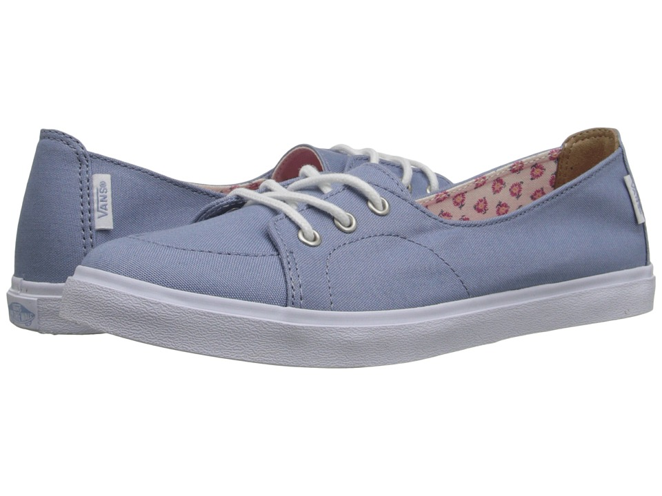 Vans - Palisades SF ((Tropical Floral) Faded Denim/True White) Women's Slip on Shoes