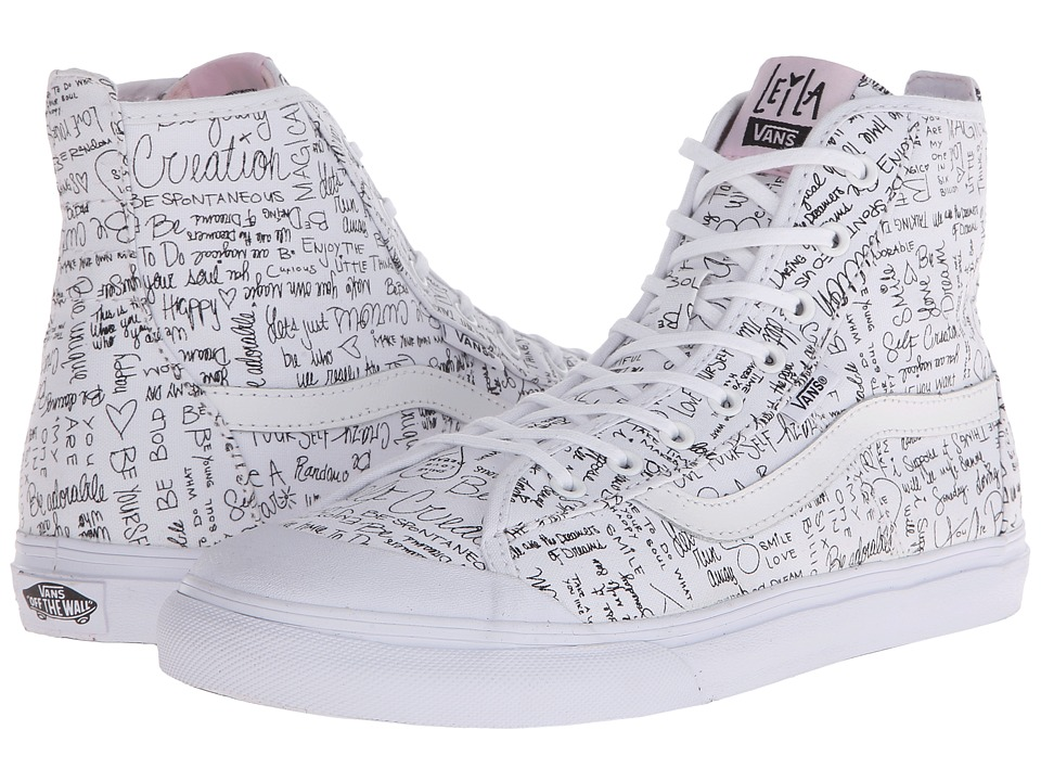 Vans - Dazie-Hi ((Leila) True White/Barely Pink) Women's Shoes