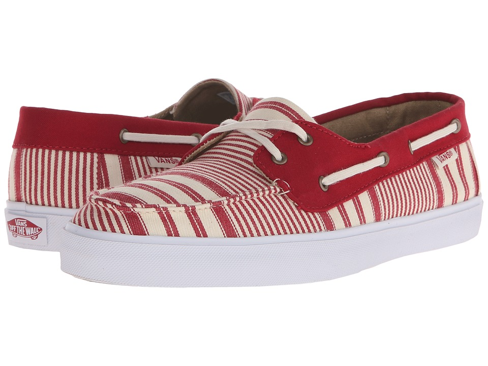 Vans - Chauffette SF ((Multi Stripe) Chili Pepper) Women's Lace up casual Shoes