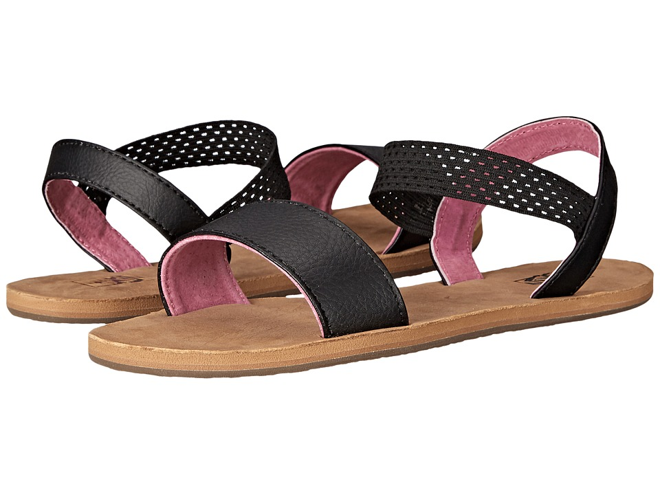 Vans - Marina (Black/Ibis Rose) Women's Sandals