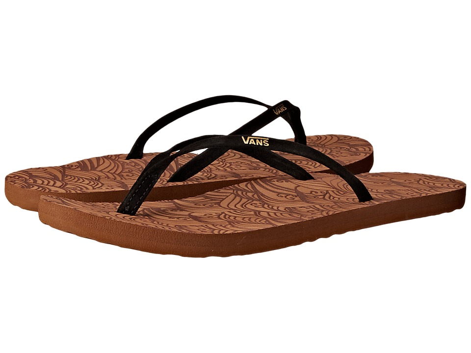 Vans - Malta LUX ((Waves) Black) Women's Sandals