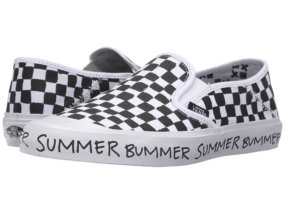 Vans - Slip-On SF ((Summer Bummer) Checkerboard) Women's Skate Shoes