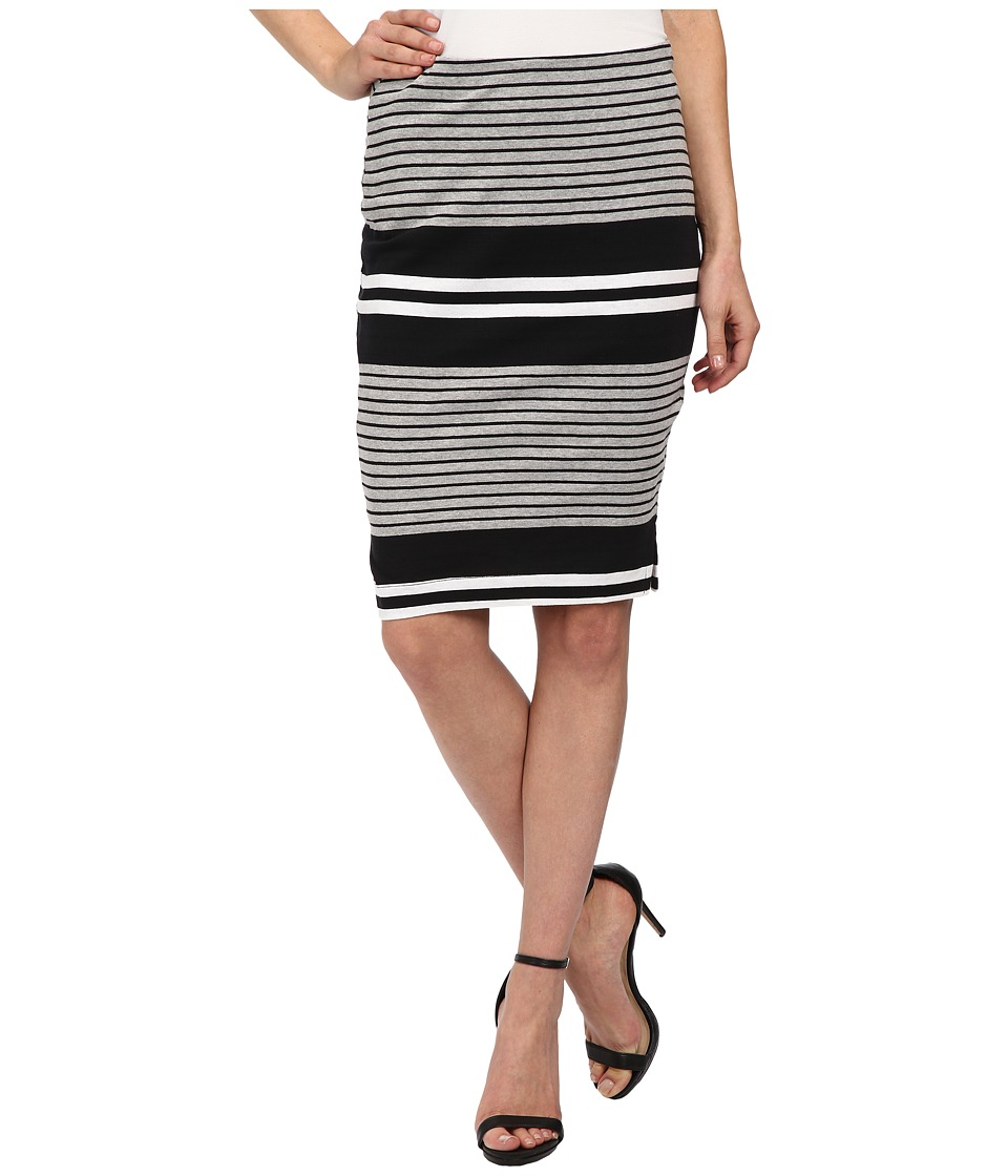 Three Dots - Pencil Skirt w/ Side Vents (Black) Women's Skirt
