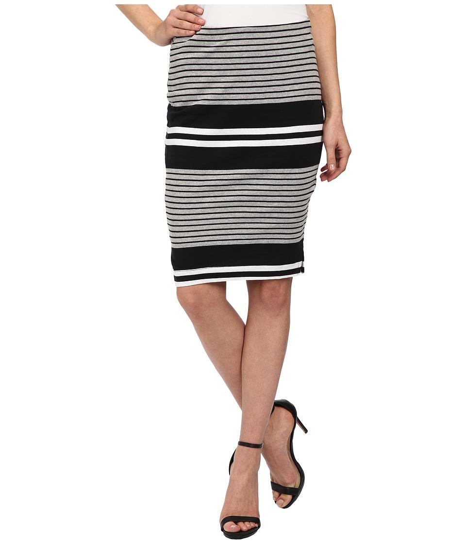 Three Dots - Pencil Skirt w/ Side Vents (Black) Women's Skirt plus size,  plus size fashion plus size appare