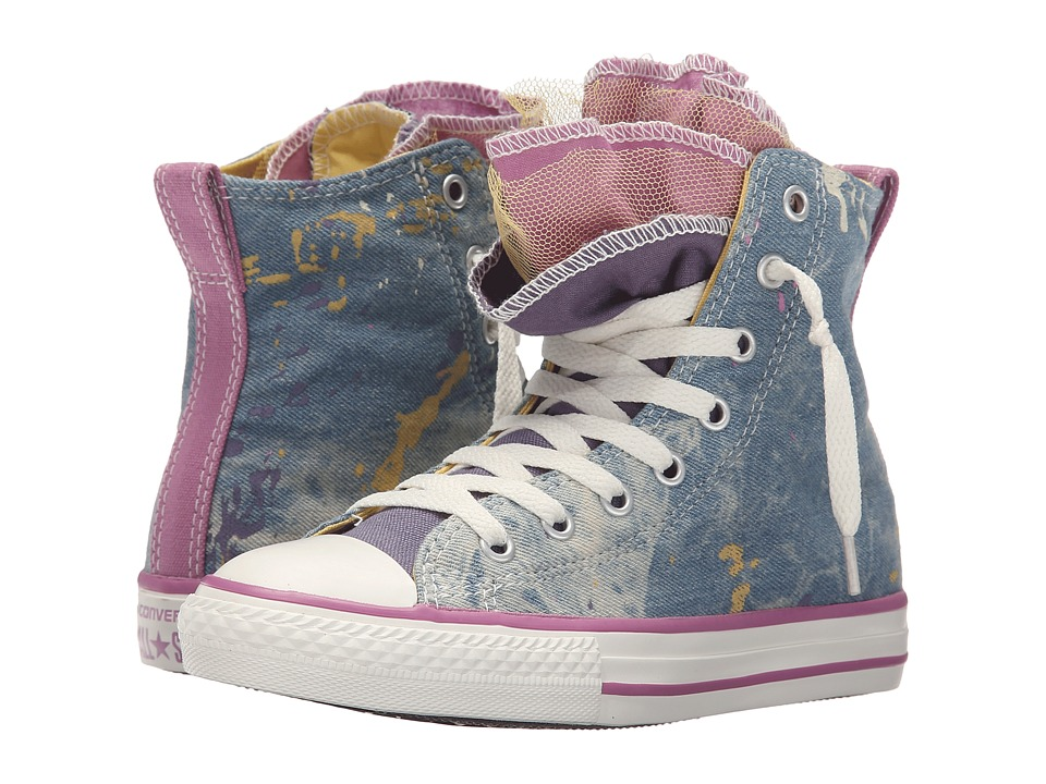 Converse Kids Chuck Taylor All Star Party Hi (Little Kid/Big Kid) (Moody Purple/Cactus Blossom/Powder Purple) Girl