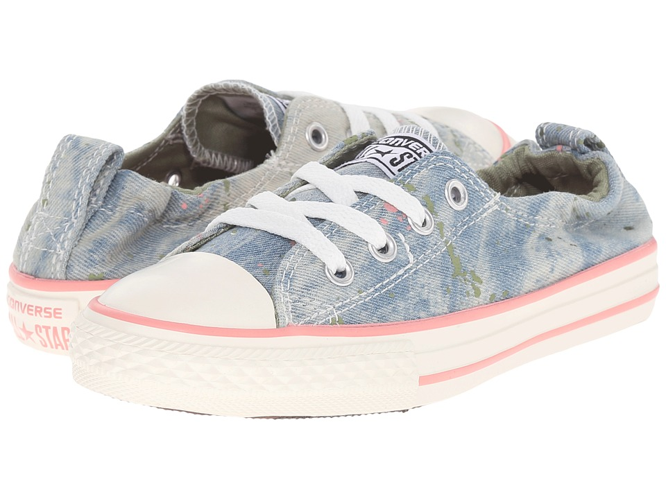 Converse Kids - Chuck Taylor All Star Shoreline (Little Kid/Big Kid) (Daybreak Pink/Pistachio Green/Street Sage) Girls Shoes