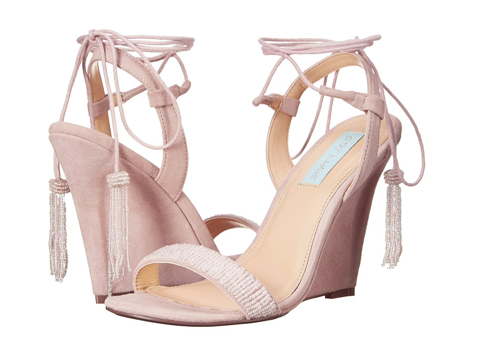 Blue by Betsey Johnson - Faye (Blush Suede) Women's Shoes