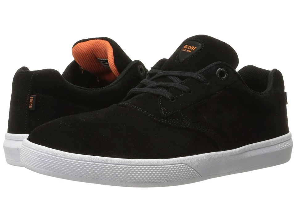 Globe - The Eagle (Black/Orange/White Suede) Men's Skate Shoes