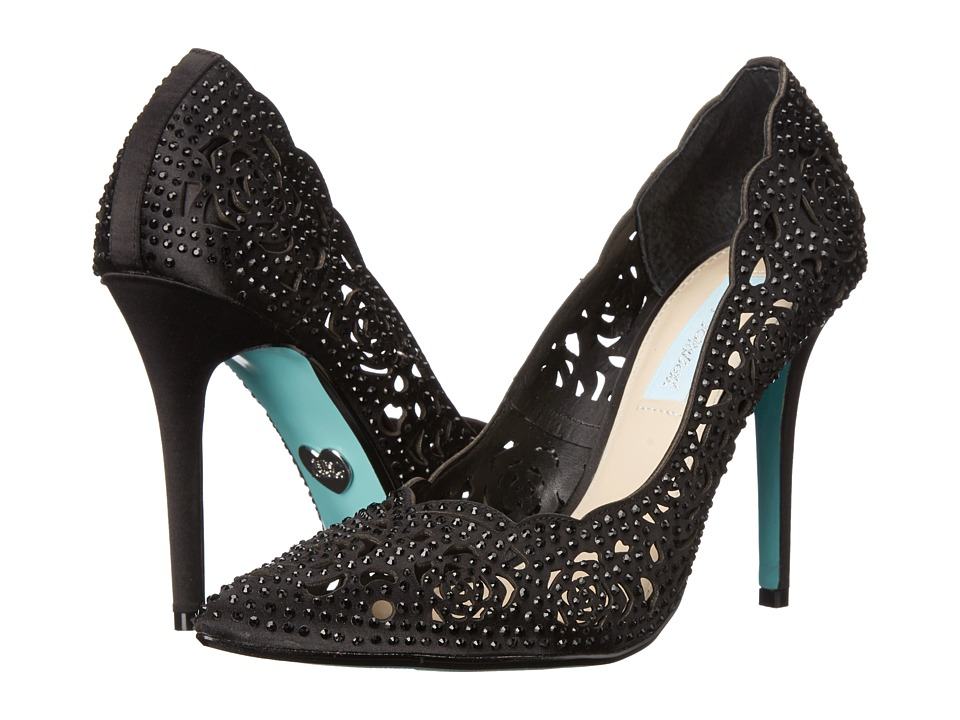 Blue by Betsey Johnson - Elsa (Black Satin) High Heels