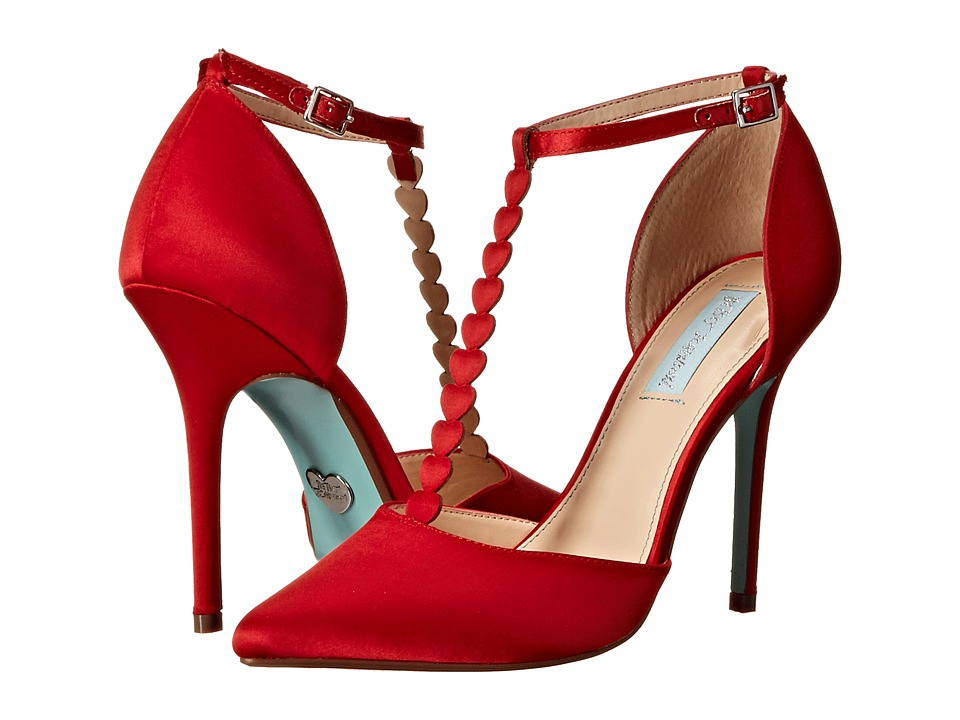 Blue by Betsey Johnson - Cece (Red Satin) High Heels