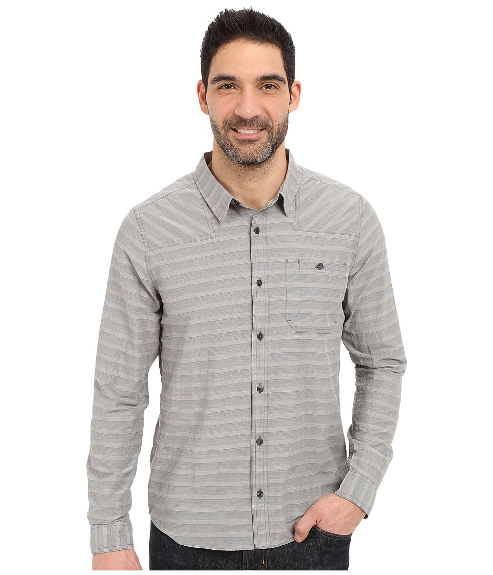 Toad&Co - Wonderer L/S Shirt (Dark Graphite) Men's Long Sleeve Button Up