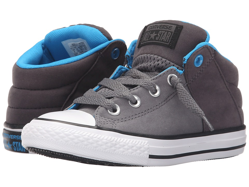 Converse Kids - Chuck Taylor All Star Axel Mid Puddle Canvas (Little Kid/Big Kid) (Thunder/Almost Black/Spray Paint) Boys Shoes
