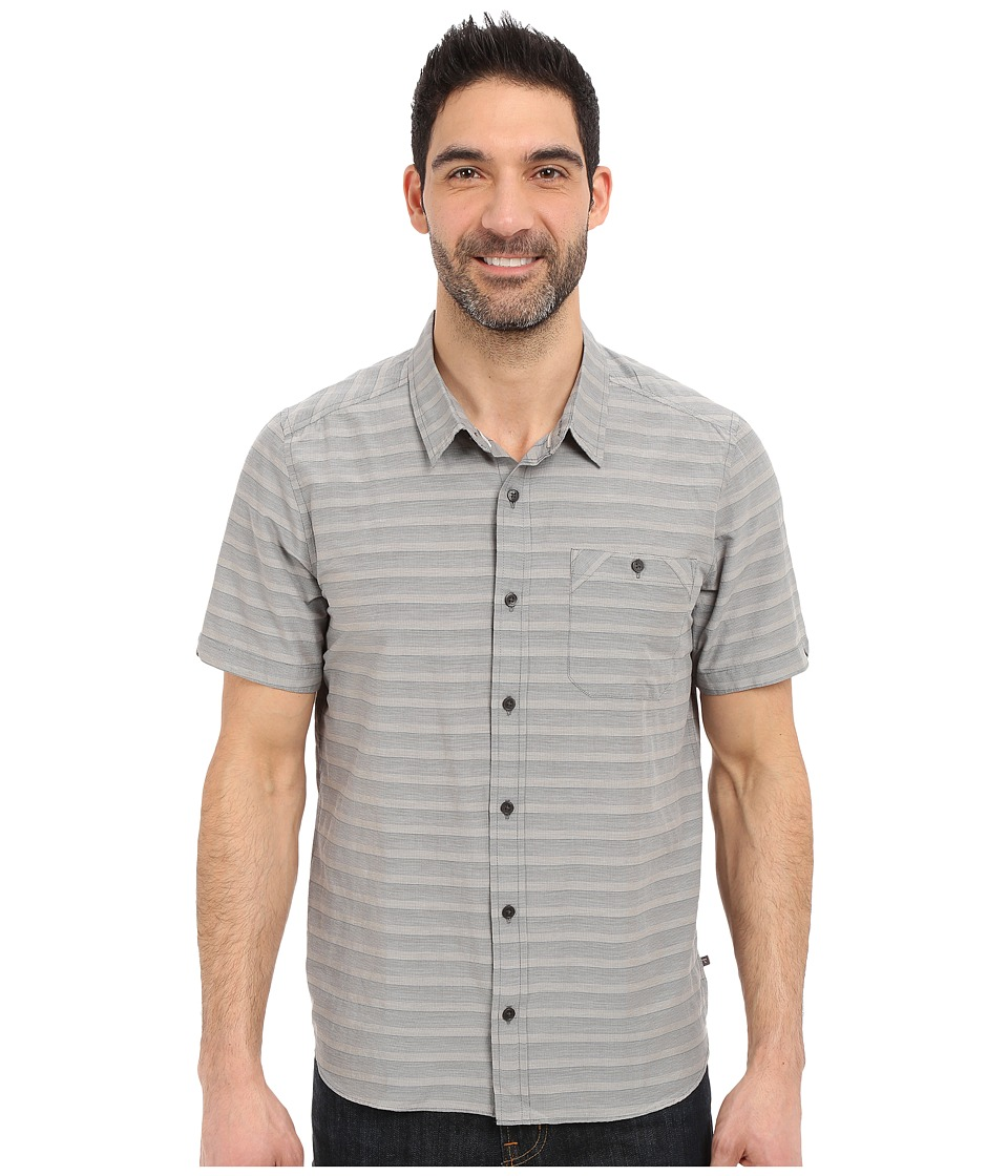 Toad&Co - Wonderer S/S Shirt (Dark Graphite) Men's Short Sleeve Button Up