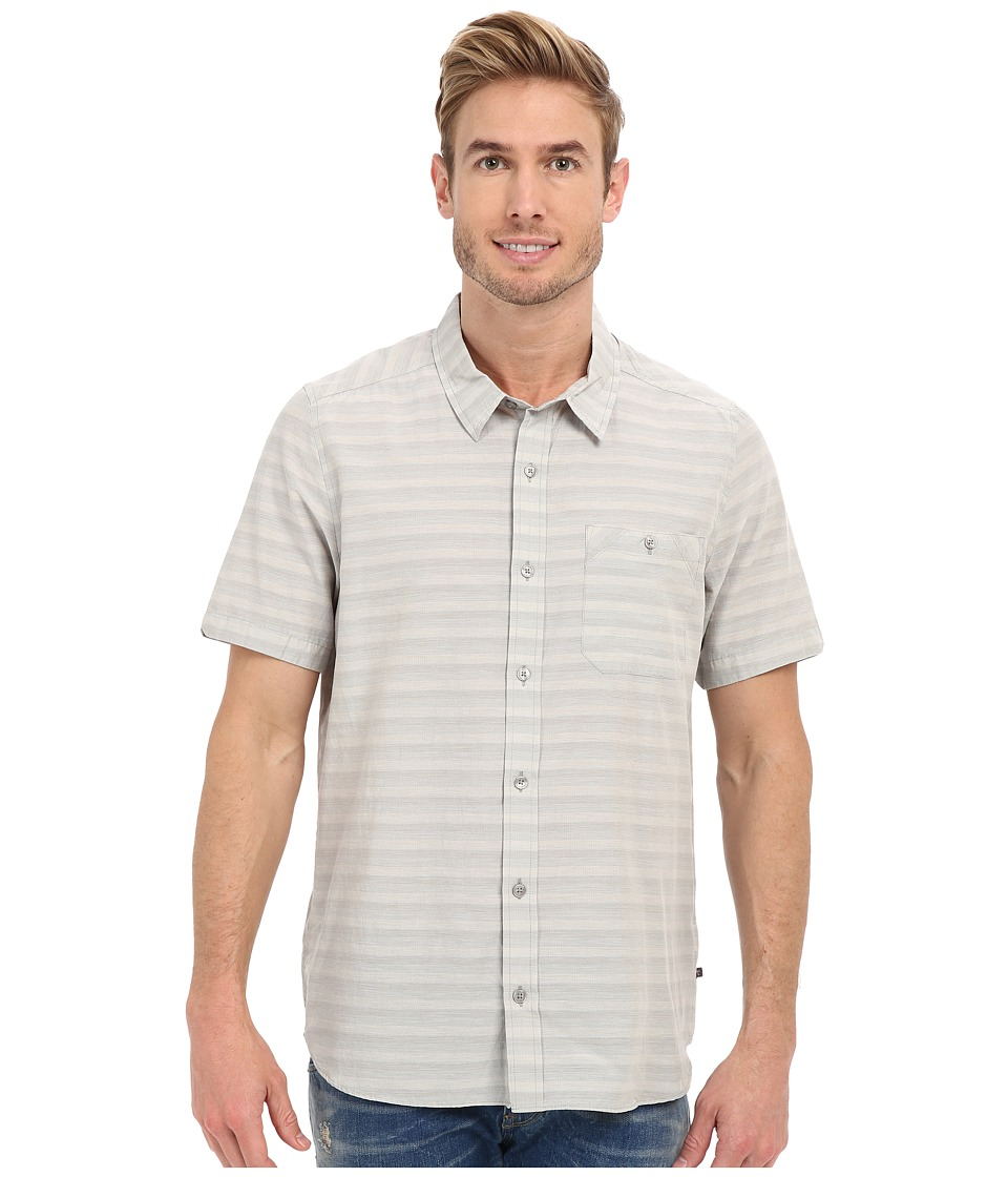 Toad&Co - Wonderer S/S Shirt (Light Ash) Men's Short Sleeve Button Up