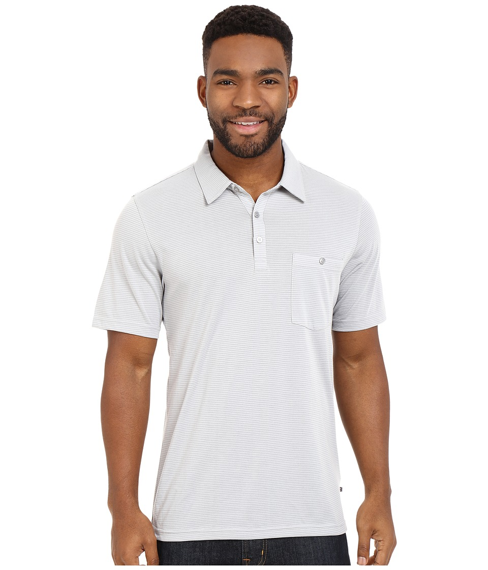 Toad&Co - Embarko Short Sleeve Polo Shirt (Light Ash Stripe) Men's Short Sleeve Knit