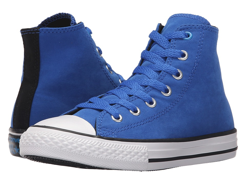 Converse Kids - Chuck Taylor All Star Hi Puddle Canvas (Little Kid/Big Kid) (Laser Blue/Black/Spray Paint Blue) Boy's Shoes