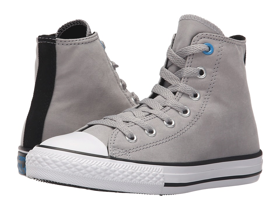 Converse Kids - Chuck Taylor All Star Hi Puddle Canvas (Little Kid/Big Kid) (Dolphin/Black/Spray Paint Blue) Boy's Shoes