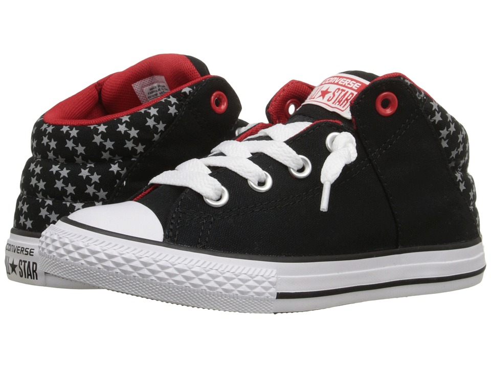 Converse Kids - Chuck Taylor All Star Axel Mid (Little Kid/Big Kid) (Black/Casino/White) Boys Shoes