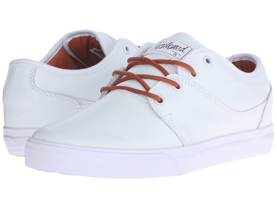 Globe - Mahalo (White Full Grain Leather) Men's Skate Shoes