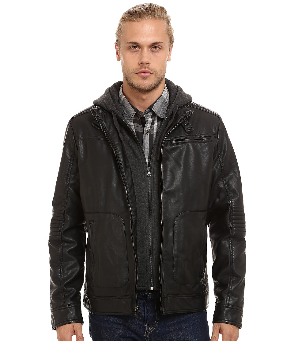 Buffalo David Bitton - 3-Pocket Jacket w/ Hood Bib (Black) Men's Coat