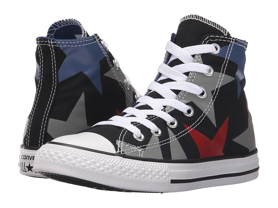 Converse Kids - Chuck Taylor All Star Hi (Little Kid/Big Kid) (Black/Dolphin/Casino) Kids Shoes