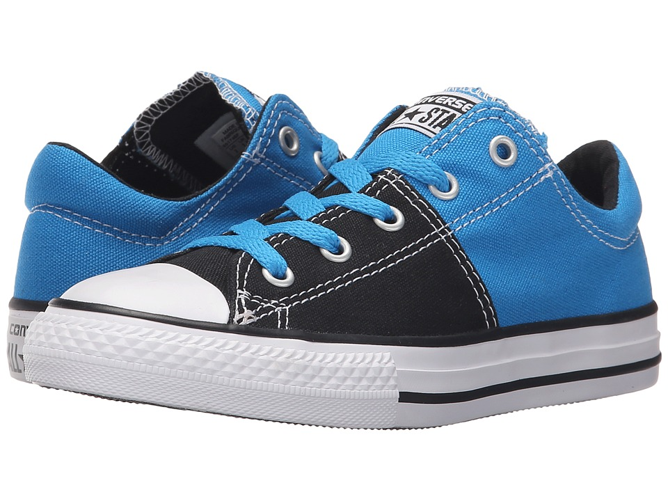 Converse Kids Chuck Taylor All Star Madison Ox (Little Kid/Big Kid) (Spray Paint Blue/Black/White) Girls Shoes