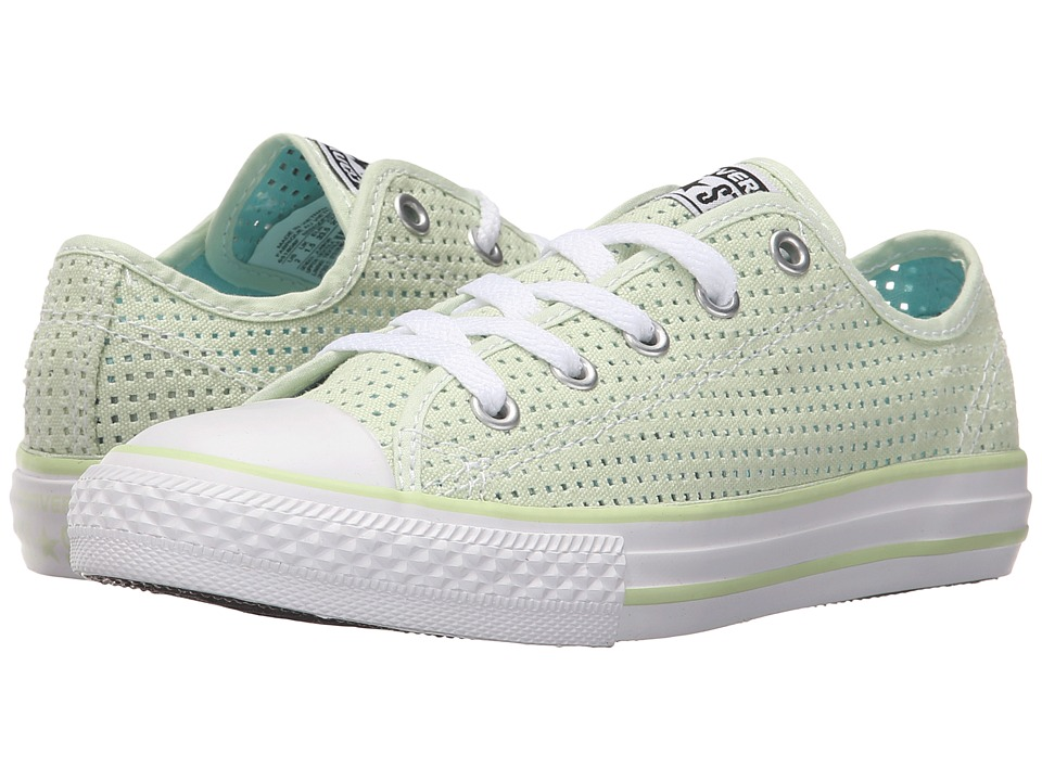 Converse Kids - Chuck Taylor All Star Ox (Little Kid/Big Kid) (Pistachio Green/Motel Pool/White) Girls Shoes