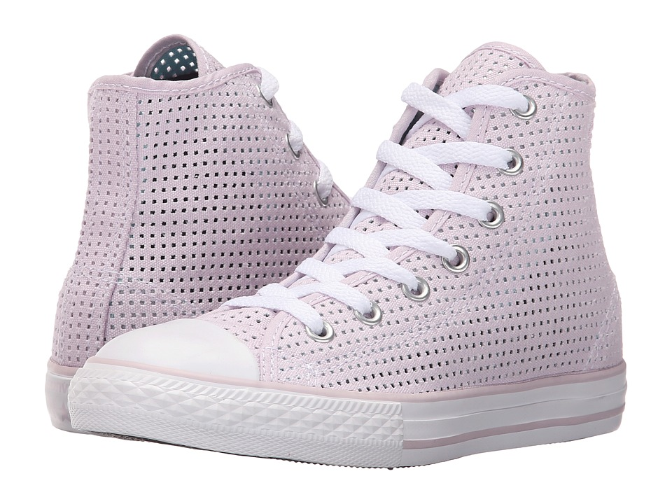 Converse Kids - Chuck Taylor All Star Hi (Little Kid/Big Kid) (Purple Dusk/Motel Pool/White) Girls Shoes