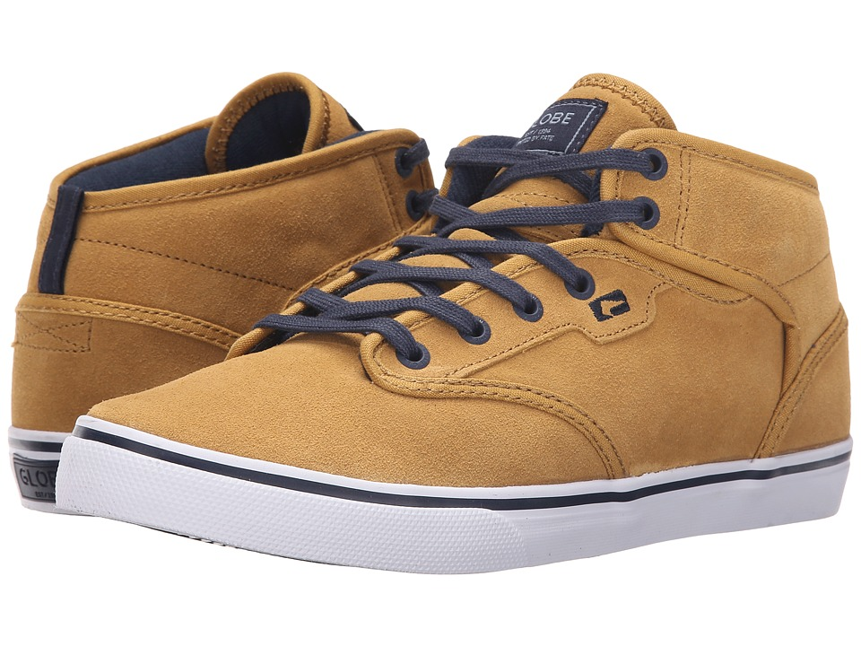 Globe - Motley Mid (Curry/Navy/White) Men's Skate Shoes