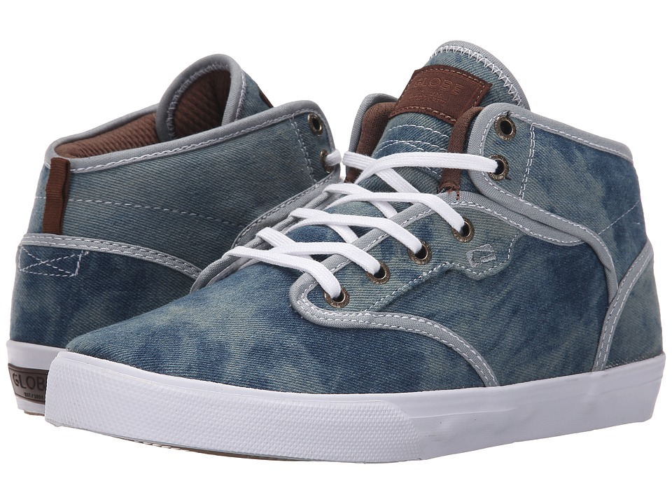 Globe - Motley Mid (Washed Blue) Men's Skate Shoes