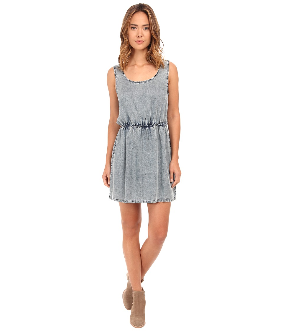 Olive & Oak - Tencel Denim Dress in Stone Wash Blue (Stone Blue Wash) Women's Dress