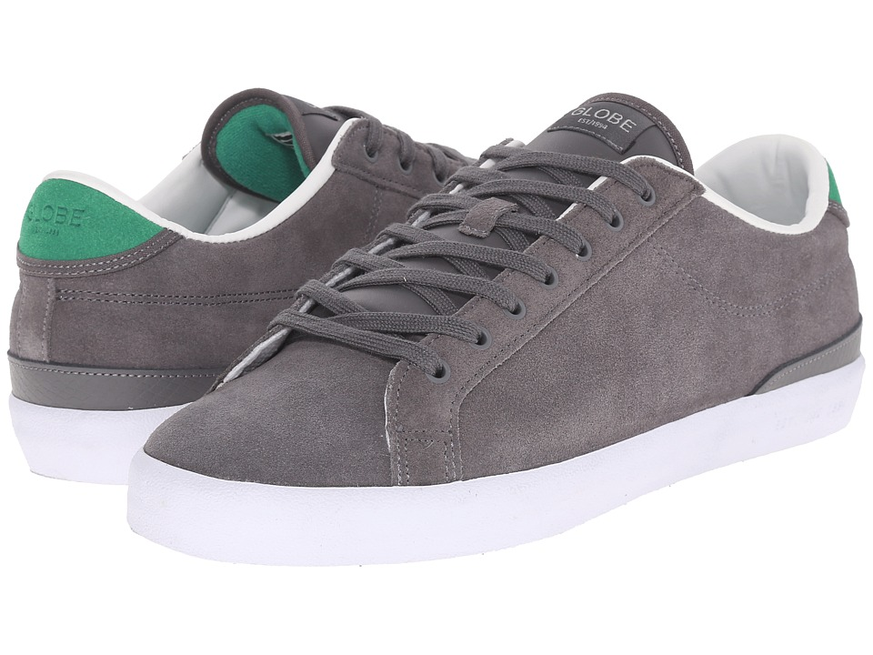 Globe - Status (Charcoal/Green Shaved Suede) Men's Skate Shoes