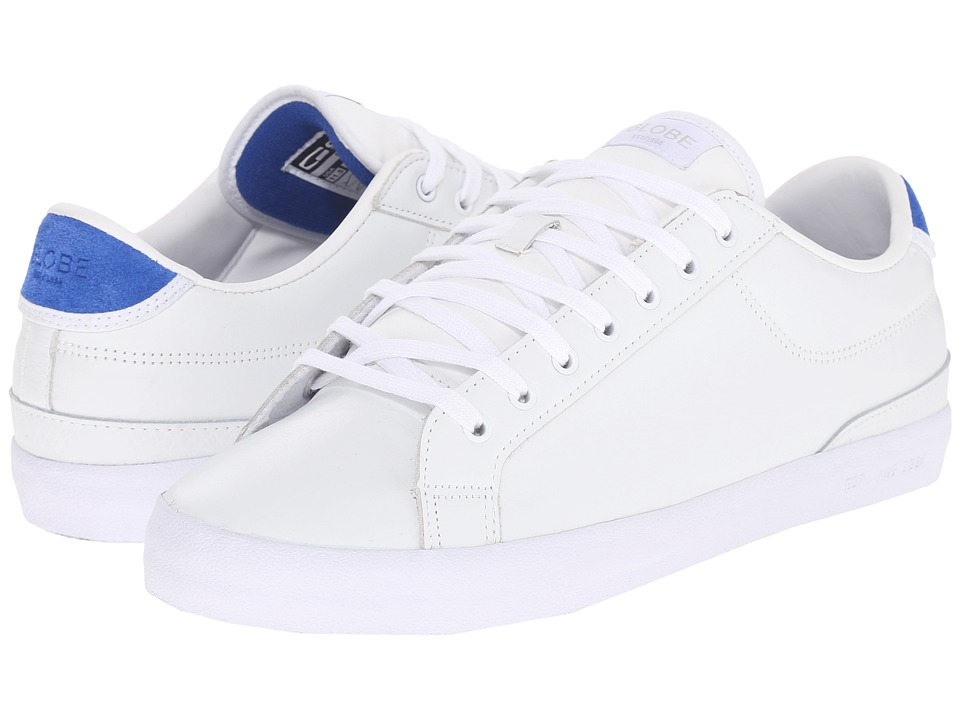 Globe - Status (White/Blue Full Grain Leather) Men's Skate Shoes