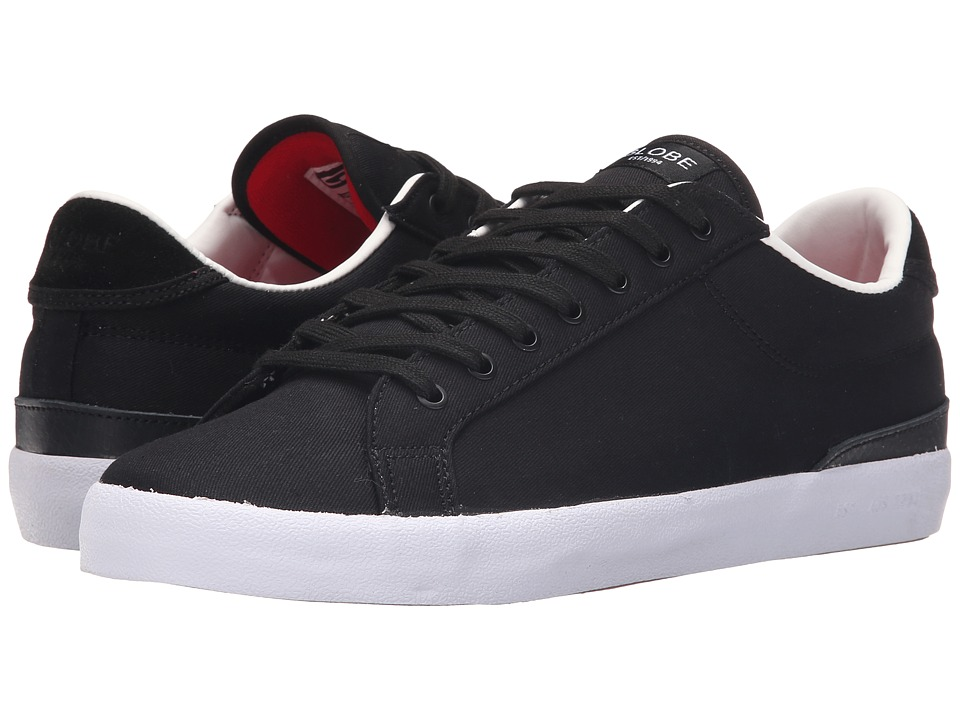 Globe - Status (Black/White Twill) Men's Skate Shoes