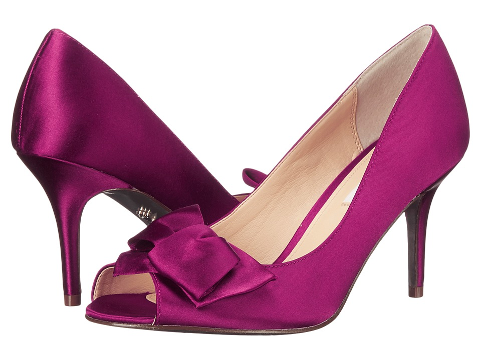 Nina - Fraser (Wine Crystal Satin) High Heels