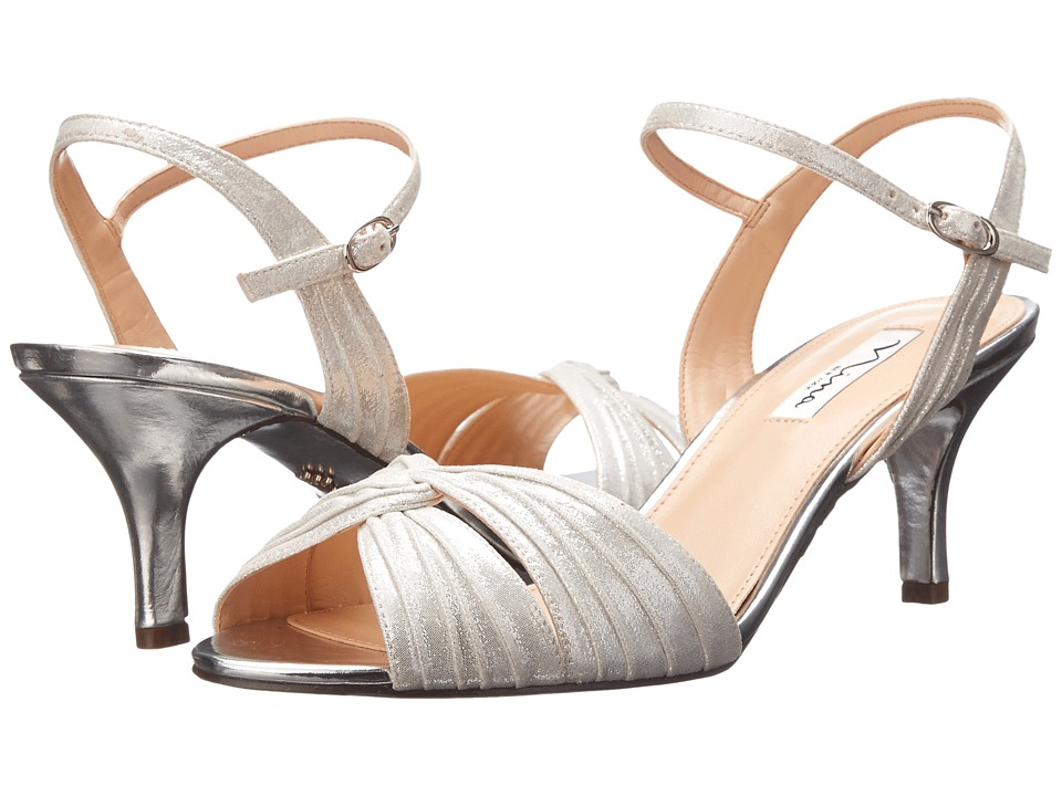 Nina - Camille (Silver Reflective Suedette) High Heels