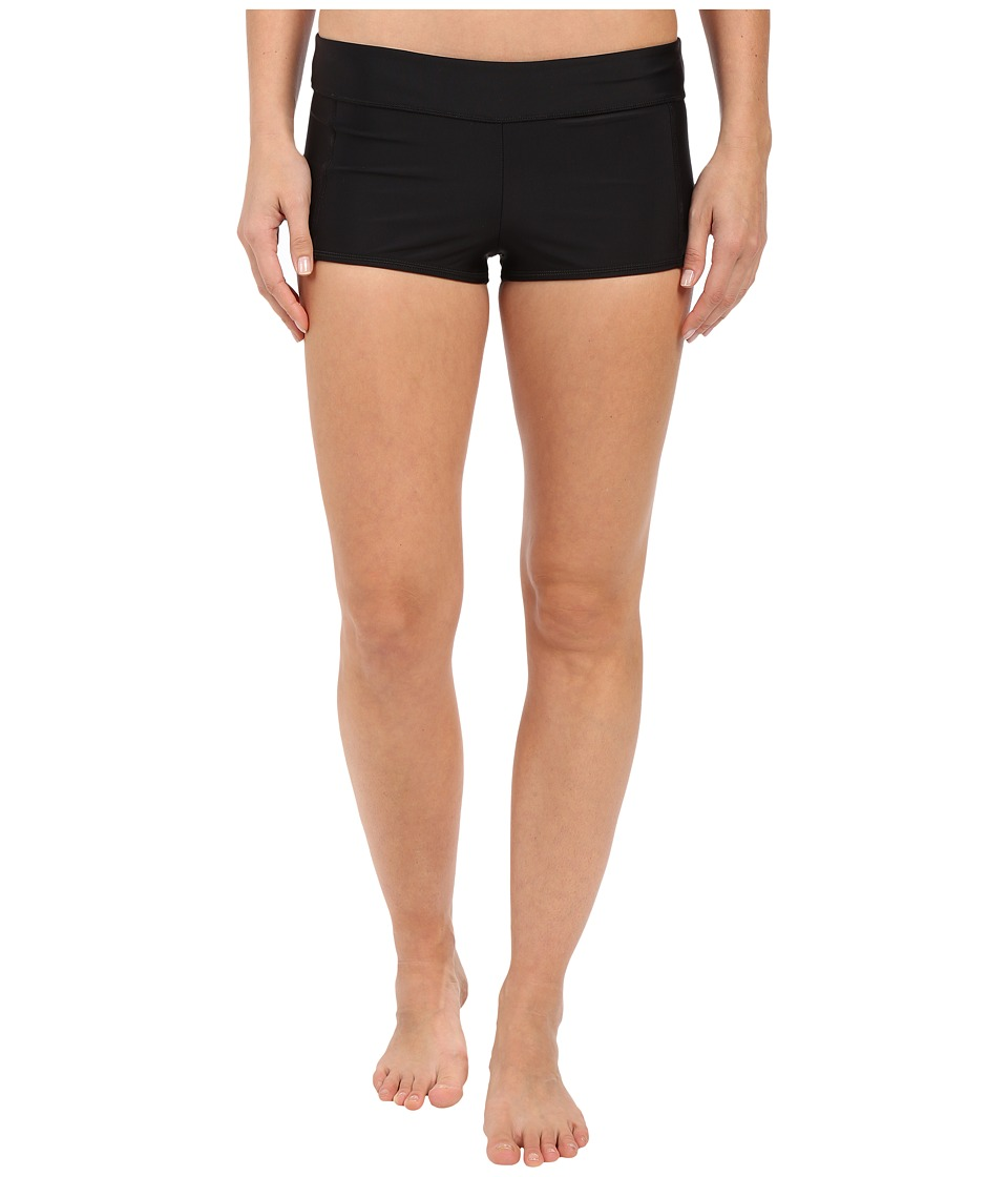 Speedo - Solid Boyshorts (Speedo Black) Women's Swimwear