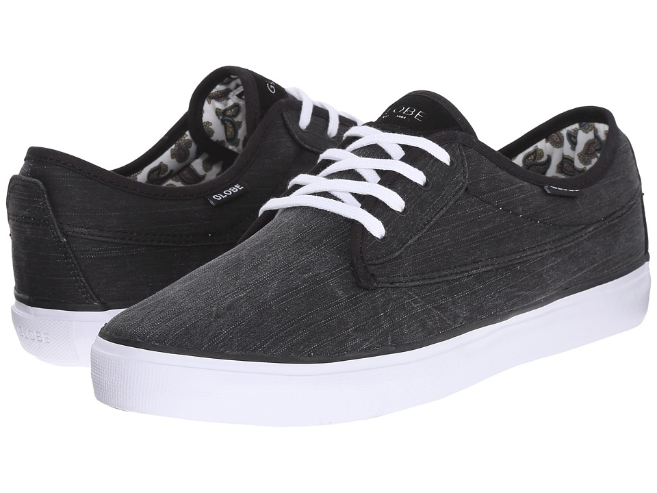 Globe - Moonshine (Black/White/Paisley Textile) Men's Lace up casual Shoes