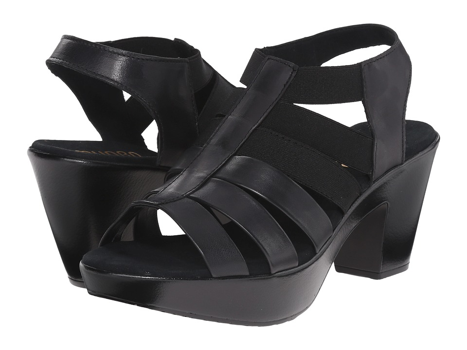 Munro - Cookie (Black Leather/Matching Elastic) High Heels