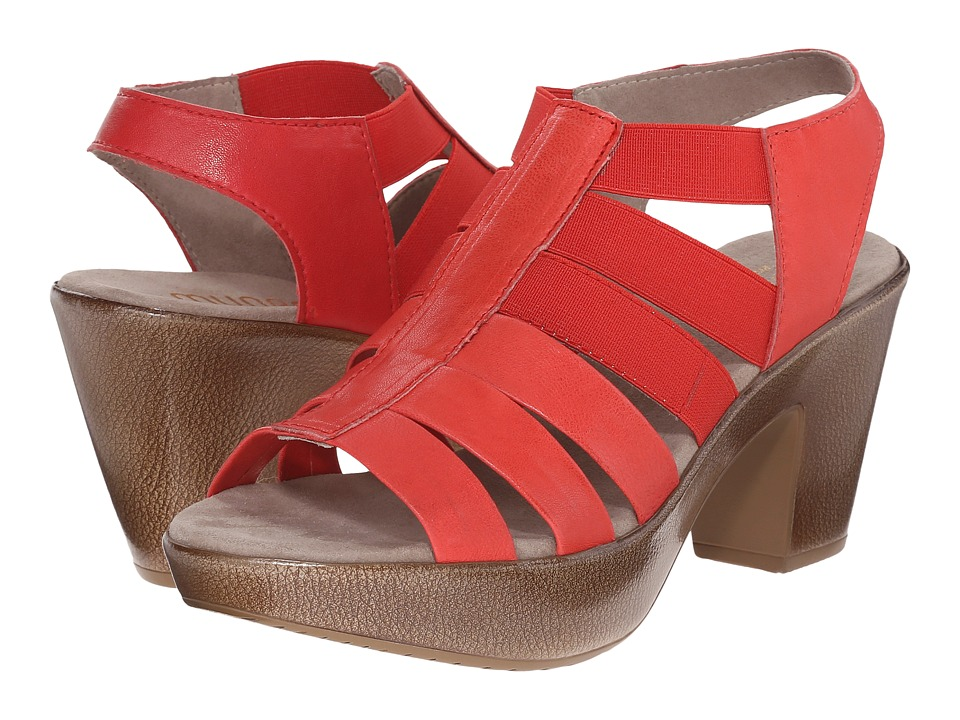 Munro - Cookie (Coral Leather/Matching Elastic) High Heels