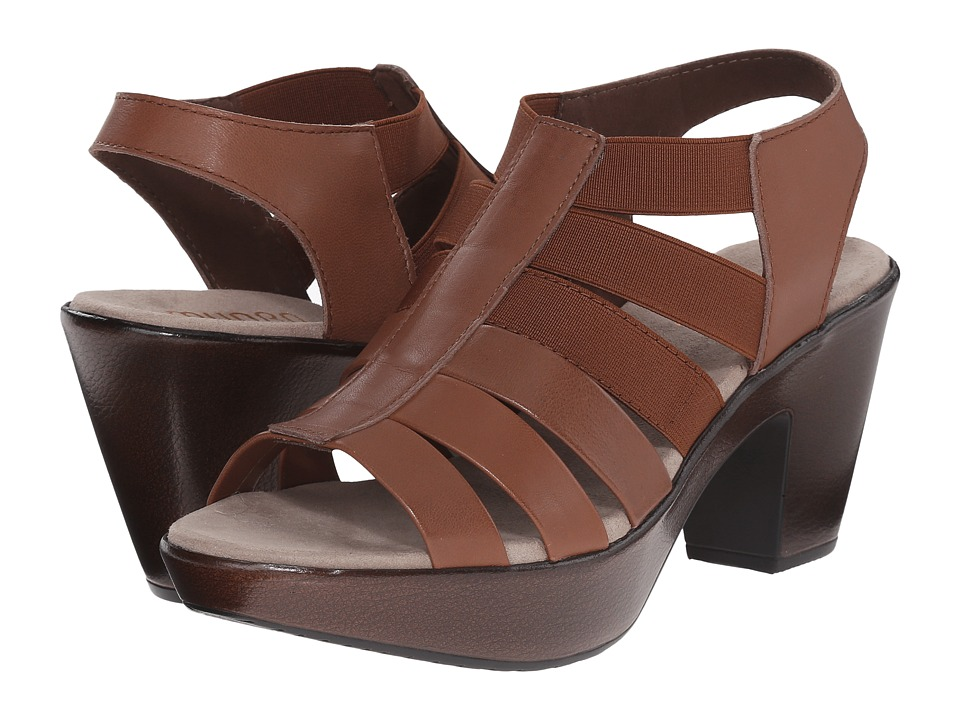 Munro Cookie (Brown Leather/Matching Elastic) High Heels